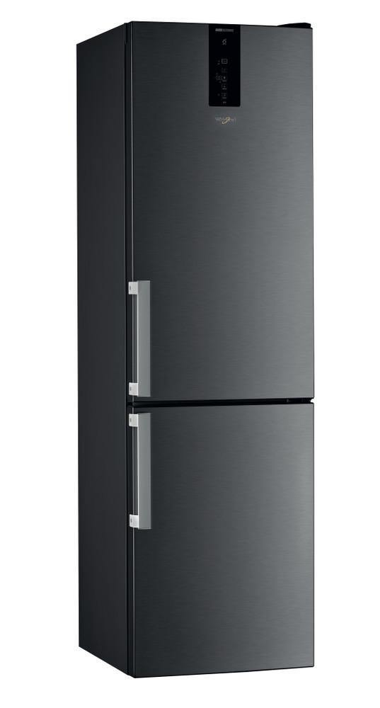 Whirlpool Fridge/freezer combination Samostojni W9 931D KS H Black/Inox 2 doors Perspective