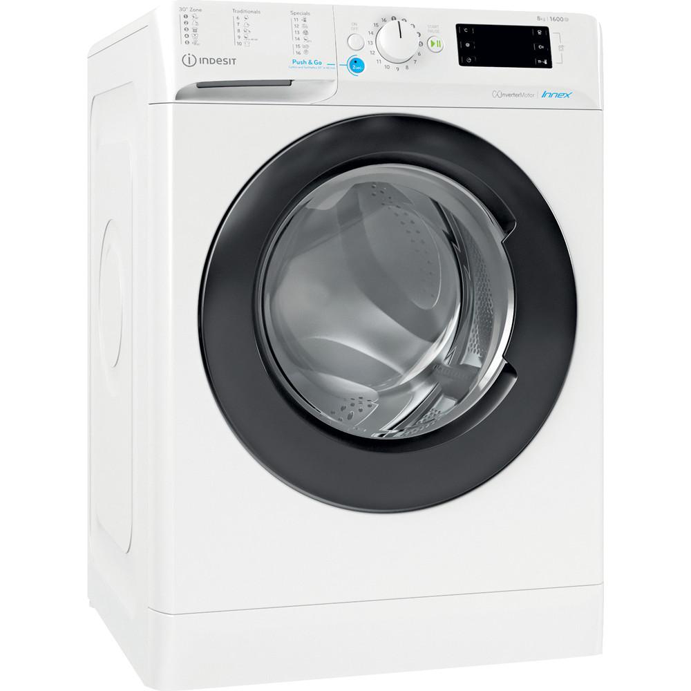 Indesit Wasmachine Vrijstaand BWE 81683X WK EU N Wit Voorlader D Perspective