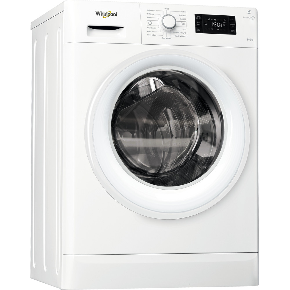 Whirlpool FWDG86148W Washer Dryer in White