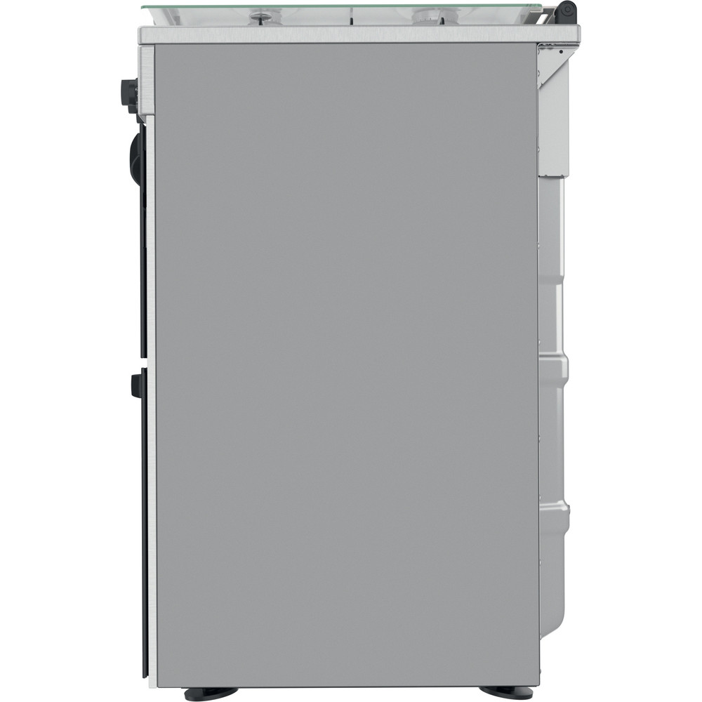 Indesit Double Cooker ID67G0MCX/UK Inox A+ Back / Lateral
