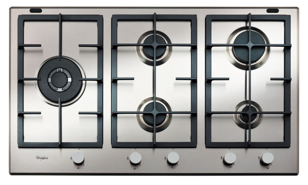 Whirlpool Hob GMA 9522/IX Inox Gas Frontal