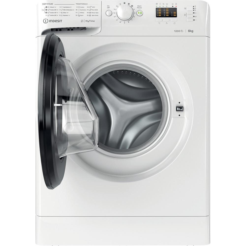 Indsit Maşină de spălat rufe Independent MTWSA 61252 WK EE Alb Încărcare frontală A +++ Frontal open