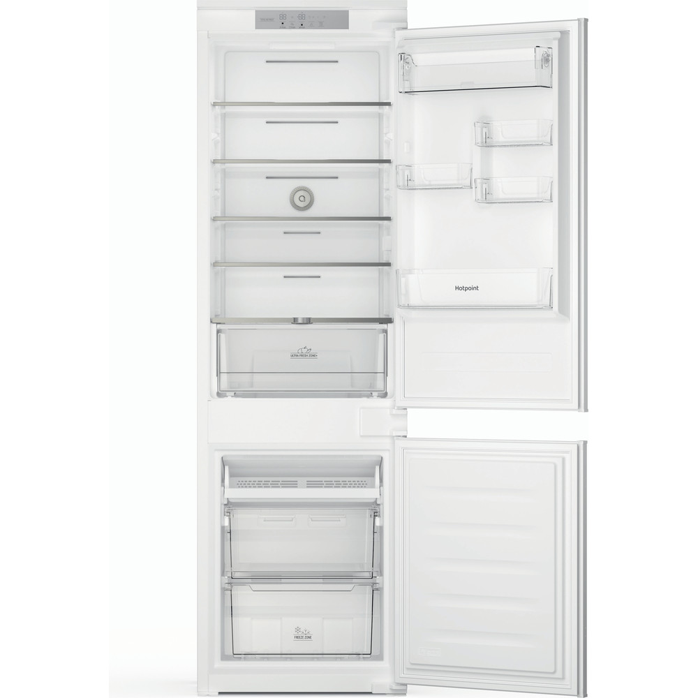Hotpoint Fridge Freezer Built-in HTC18 T532 UK White 2 doors Frontal open