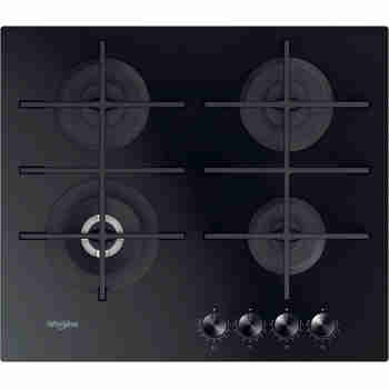 Whirlpool Table de cuisson GOWL 628/NB FR Noir Gaz Frontal