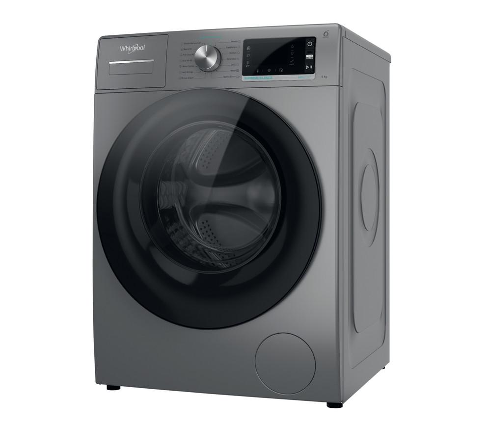 Whirlpool Перална машина Свободностоящи W6 W945SB EE Сребрист Предно зареждане B Perspective