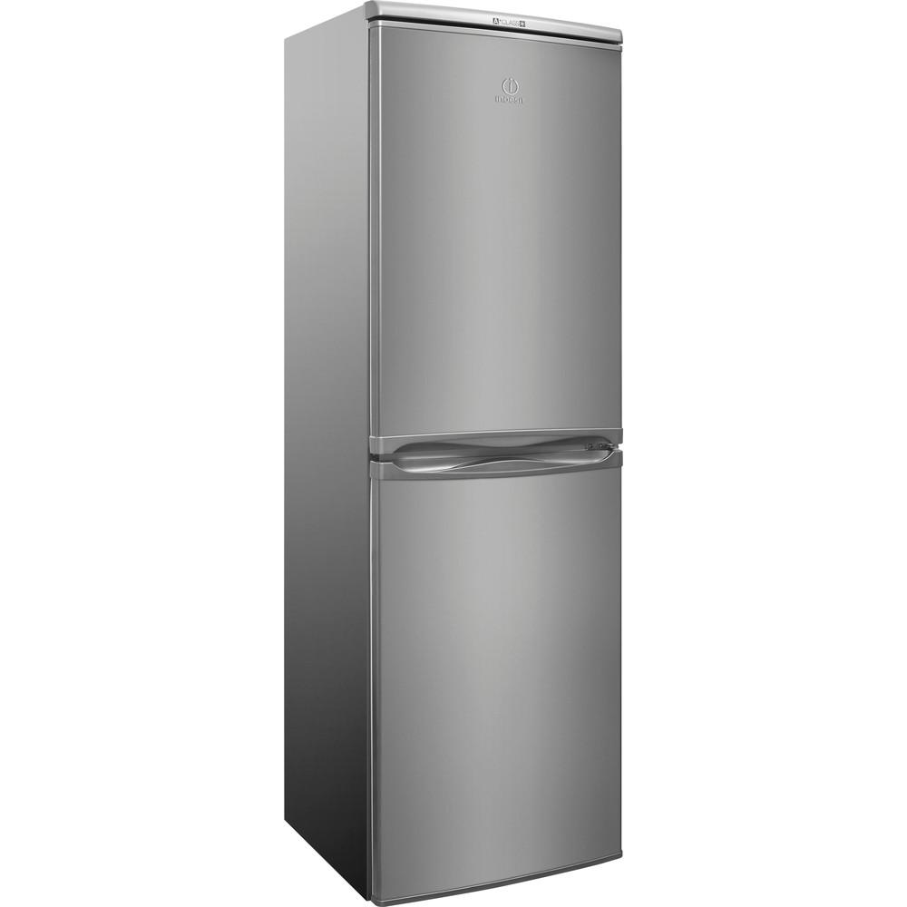 Indesit Комбиниран хладилник с камера Свободностоящи CAA 55 NX Инокс 2 врати Perspective