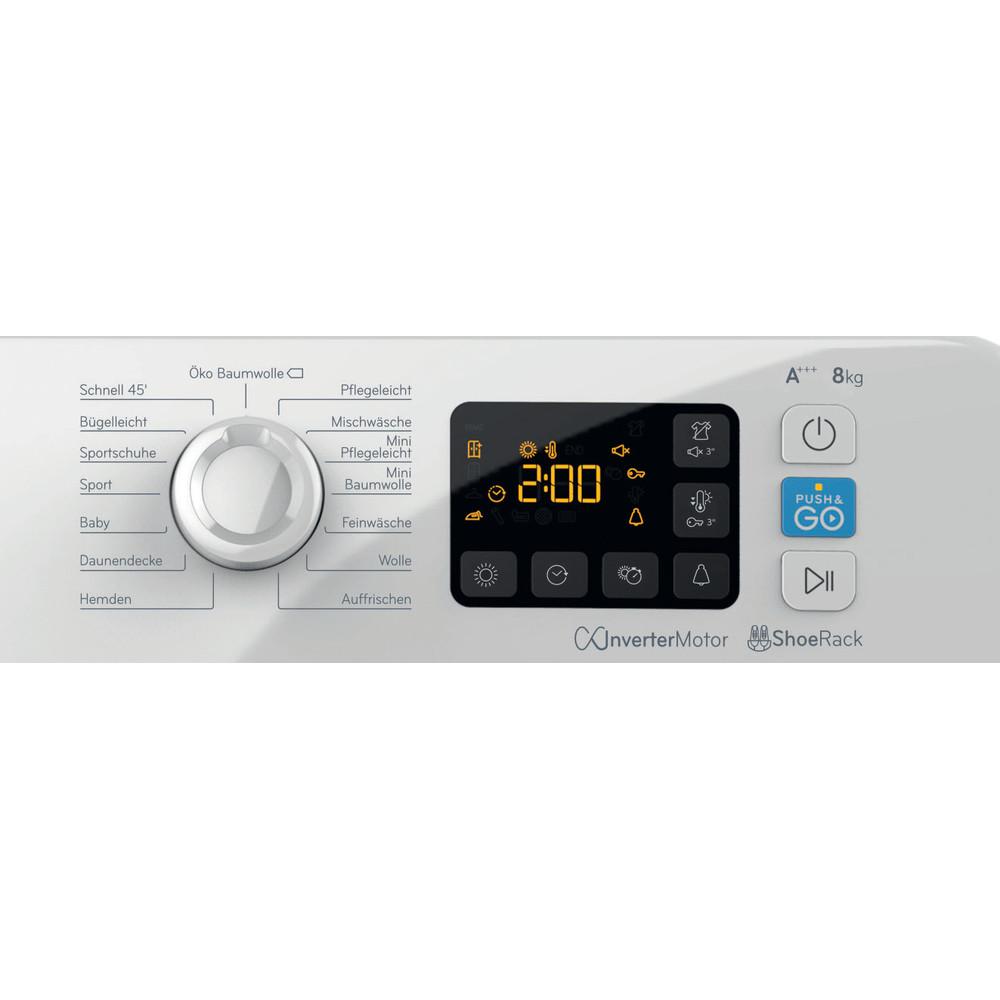 Indesit Trockner YT M11 83 RX DE Weiß Control panel