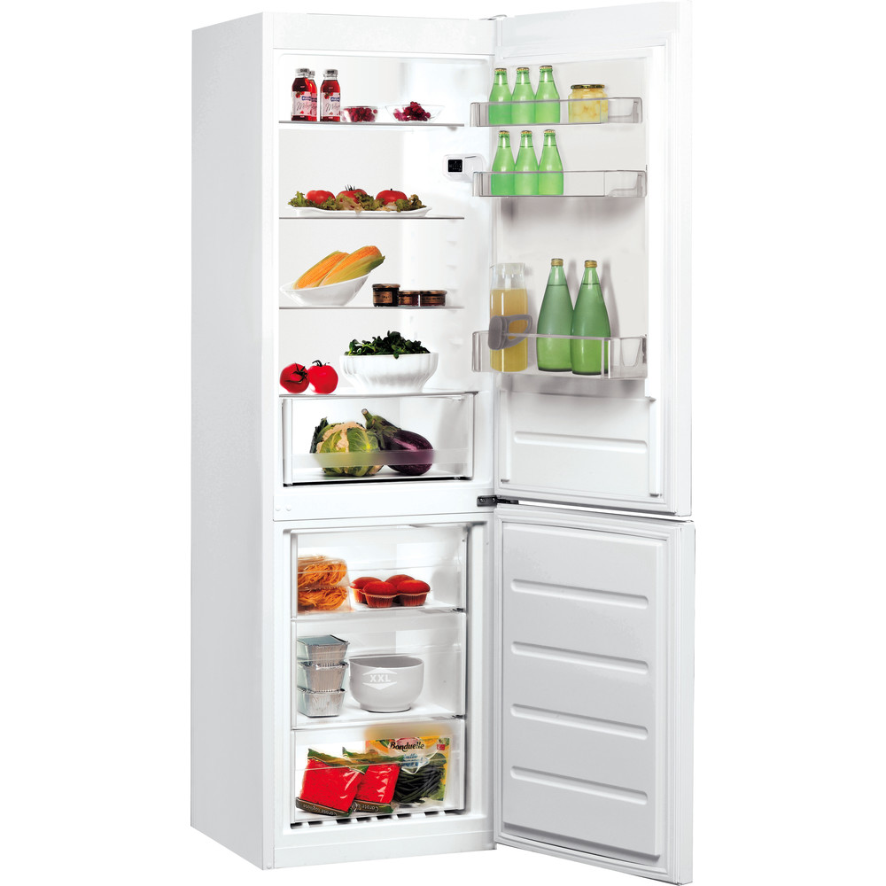 Indesit Kombinerat kylskåp/frys Fristående LI8 SN1E W White 2 doors Perspective open