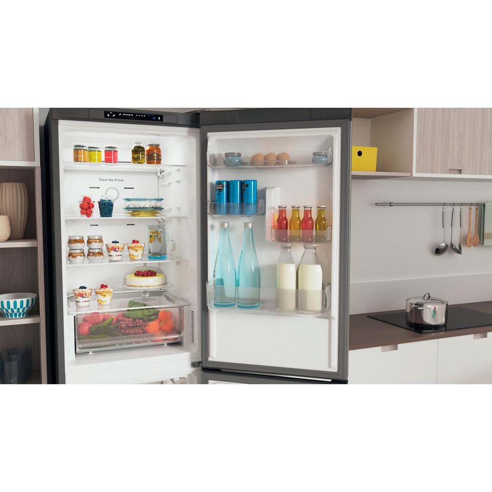 Indesit Combinación de frigorífico / congelador Libre instalación INFC8 TA23X Inox 2 doors Lifestyle detail