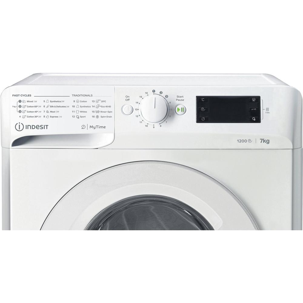 Indsit Maşină de spălat rufe Independent MTWE 71252 W EE Alb Încărcare frontală A +++ Control panel