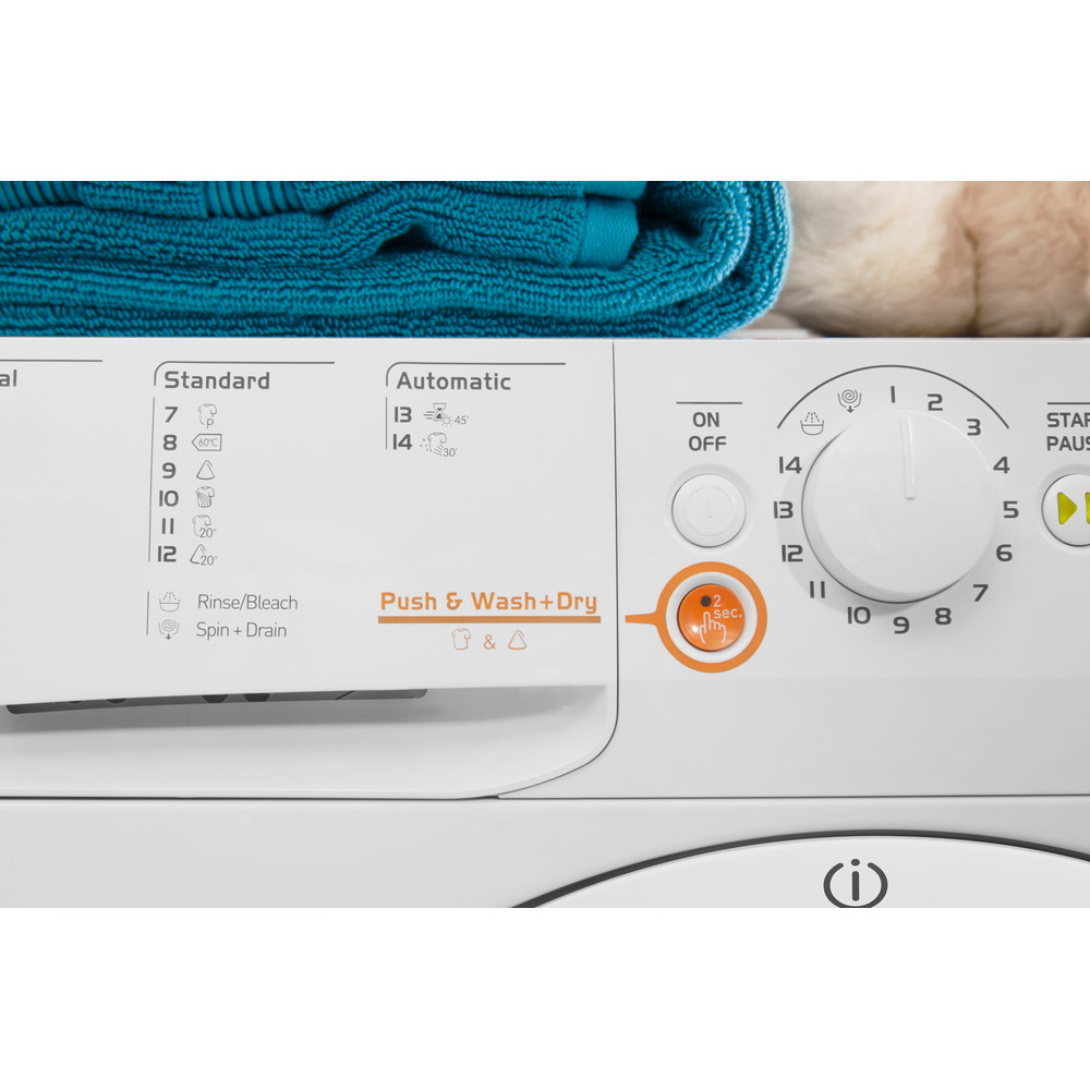 Indesit Прально-сушильна машина Соло XWDA 751680X W EU Білий Front loader Lifestyle control panel