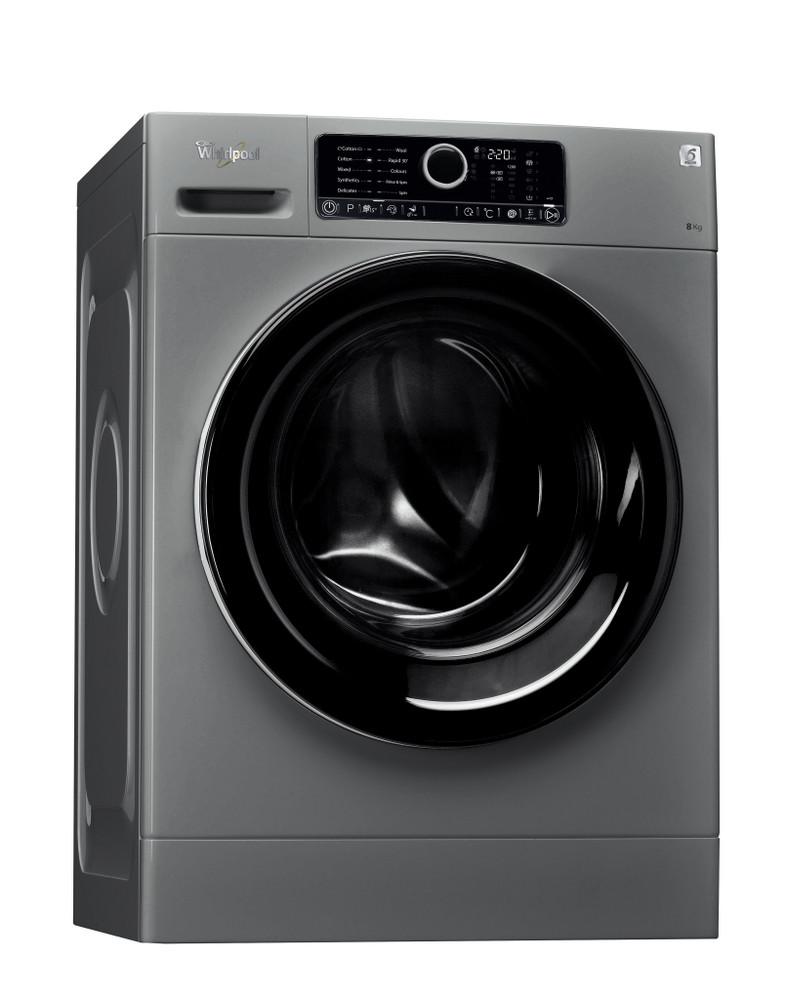 Whirlpool Washing machine مفرد FSCR 80210 Silver محمل أمامي A+++ Perspective