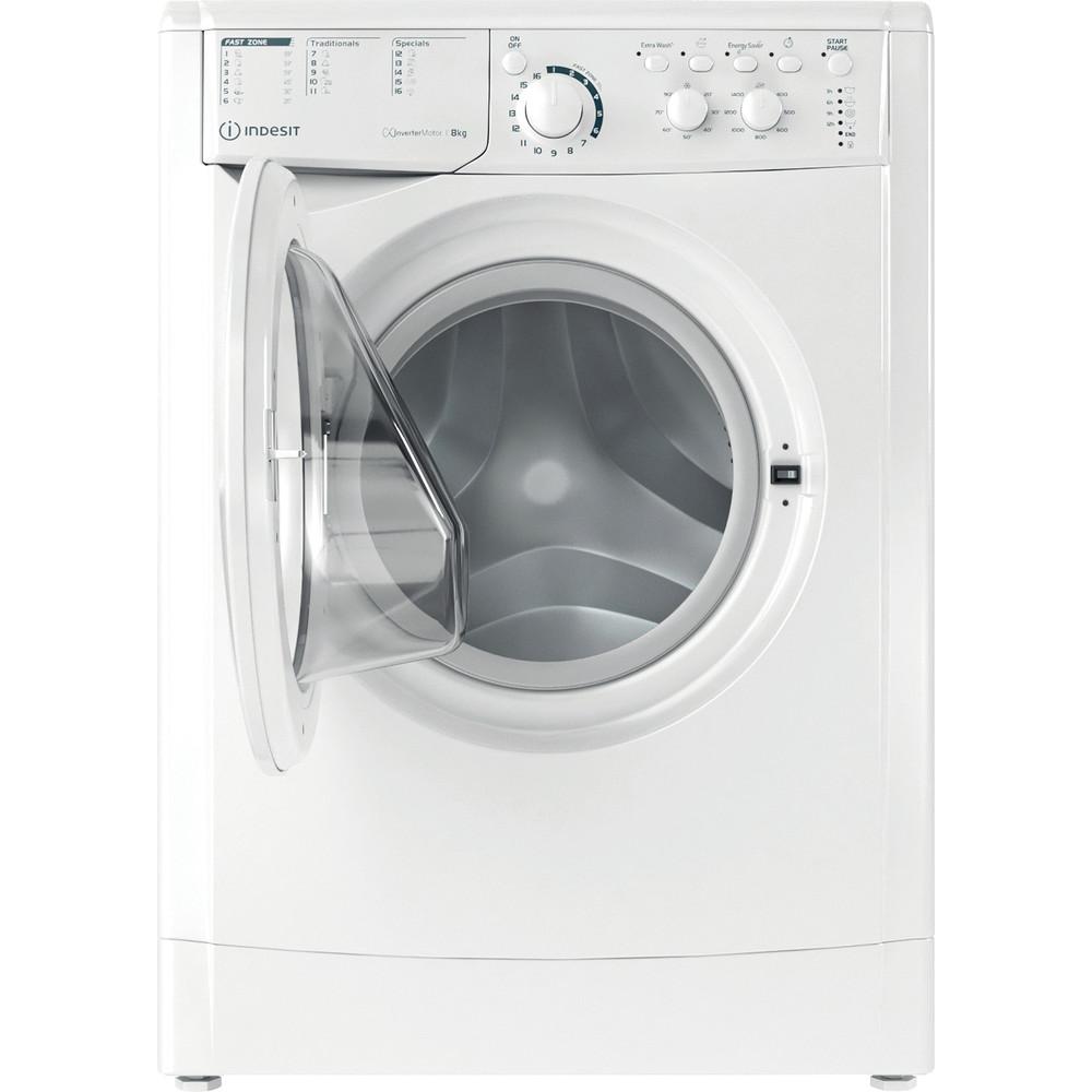 Indesit Перална машина Свободностоящи EWC 81483 W EU N Бял Предно зареждане D Frontal open