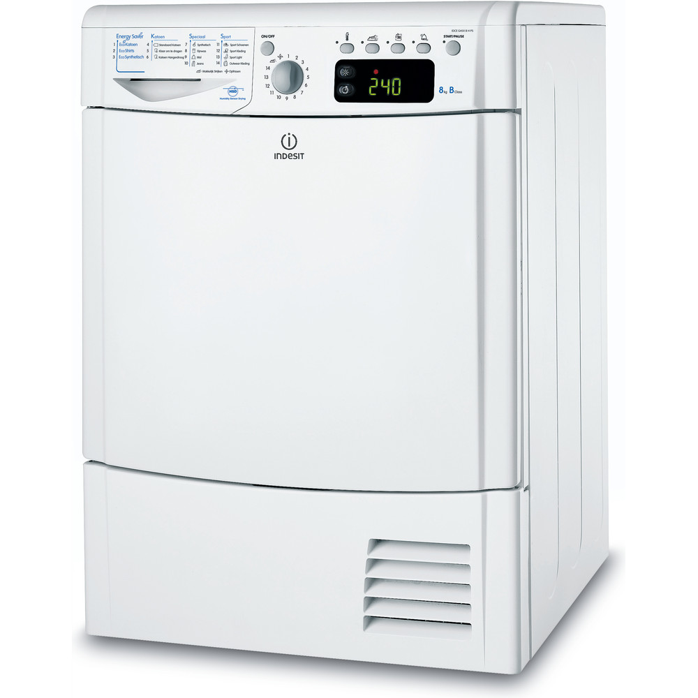 Indesit Droger IDCE G45X B H PS(NL) Wit Perspective