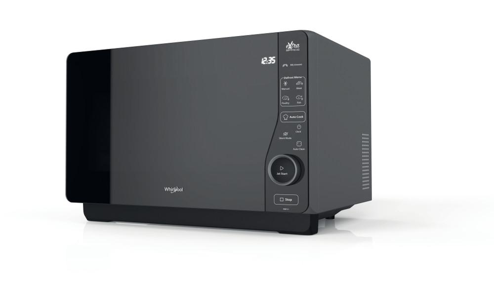 Whirlpool Micro-ondas Independente com possibilidade de integrar MWF 421 BL Preto Electrónicos 25 Microondas+Função Grill 800 Perspective