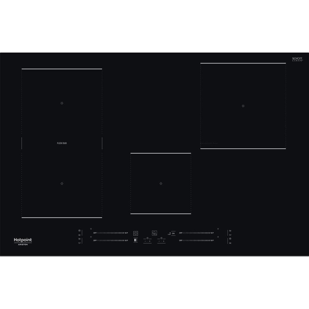 Hotpoint_Ariston Piano cottura HS 3377C BF Nero Induction vitroceramic Frontal
