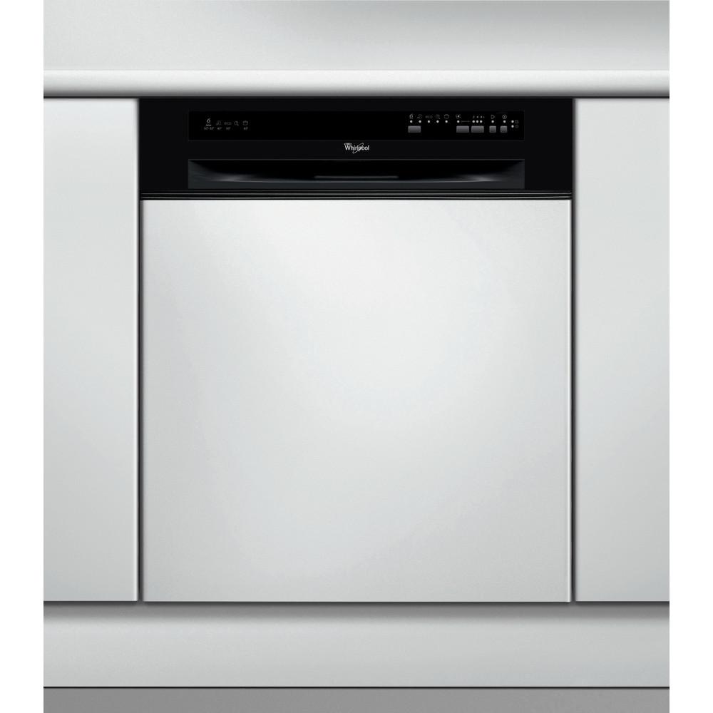 Whirlpool halvintegrerad diskmaskin: färg svart, 60 cm - ADG 7580/1 NB