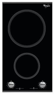 Whirlpool főzőlap: 2 elektromos gyűrű - AKT 360/IX