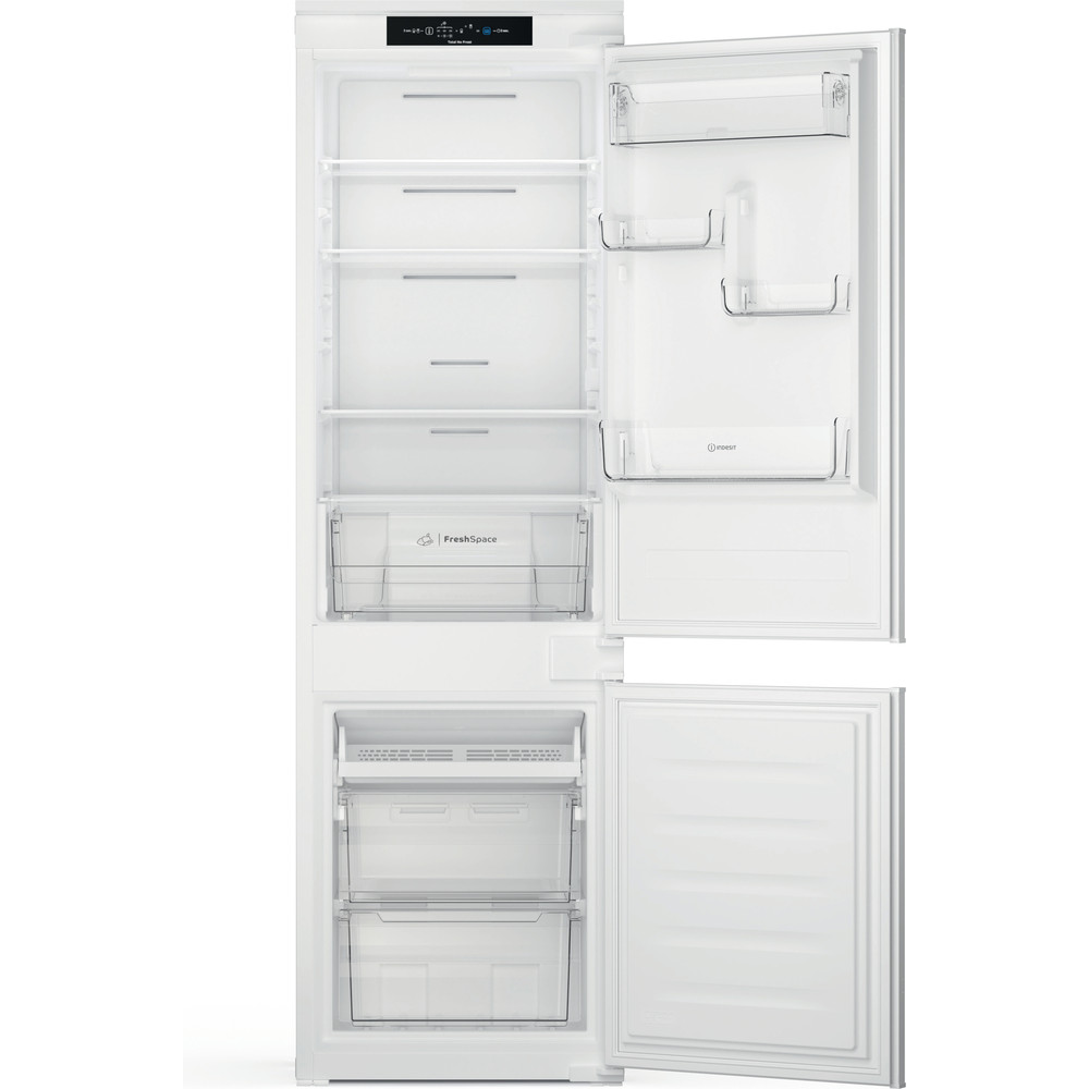Indesit Combinado Encastre INC18 T311 Branco 2 doors Frontal open