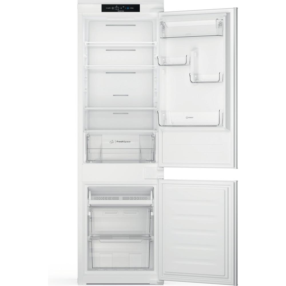 Indesit Réfrigérateur combiné Encastrable INC18 T311 Blanc 2 portes Frontal open