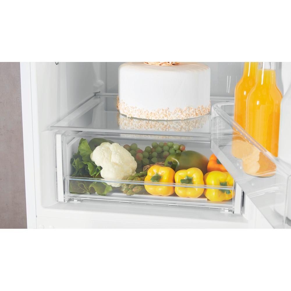 Indesit Køleskab/fryser kombination Fritstående XIT8 T1E W Hvid 2 doors Drawer