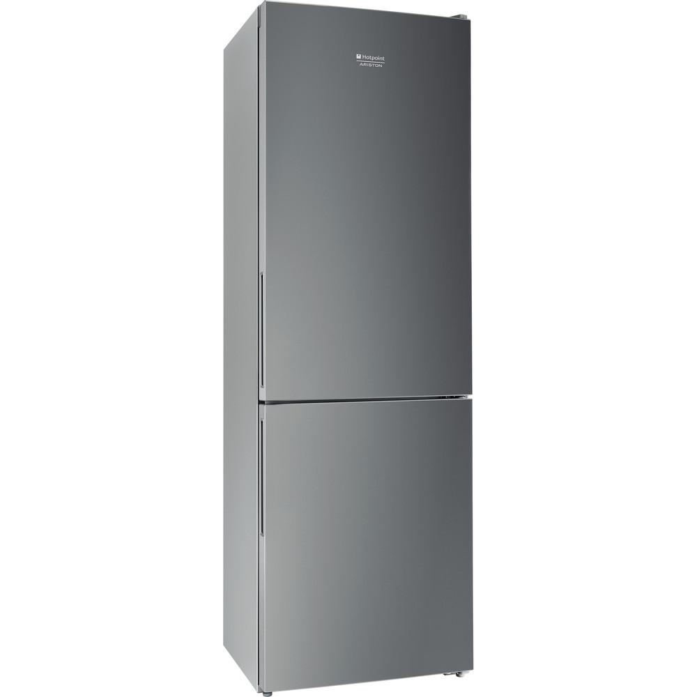 Hotpoint_Ariston Комбинированные холодильники Отдельностоящий HF 4180 S Серебристый 2 doors Perspective