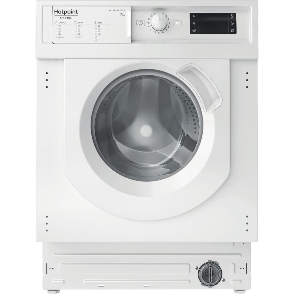 Hotpoint_Ariston Перална машина За вграждане BI WMHG 71483 EU N Бял Предно зареждане D Frontal