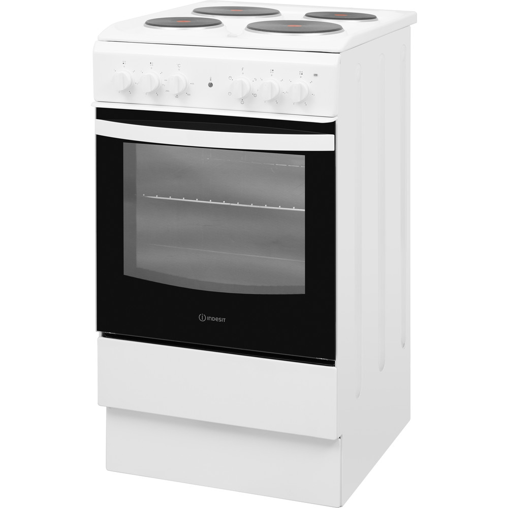 Indesit Cooker IS5E4KHW/UK White Electrical Perspective