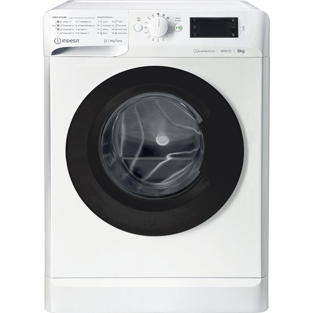 Indsit Maşină de spălat rufe Independent MTWE 81283 WK EE Alb Încărcare frontală D Frontal