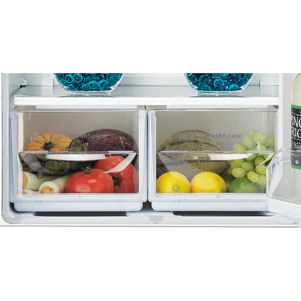 Indesit Комбиниран хладилник с камера Свободностоящи CAA 55 1 Бял 2 врати Drawer