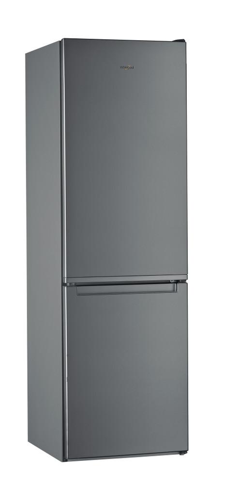 """Whirlpool Šaldytuvo / šaldiklio kombinacija Laisvai pastatomas W7 821I OX """"Optic Inox"""" 2 doors Perspective"""