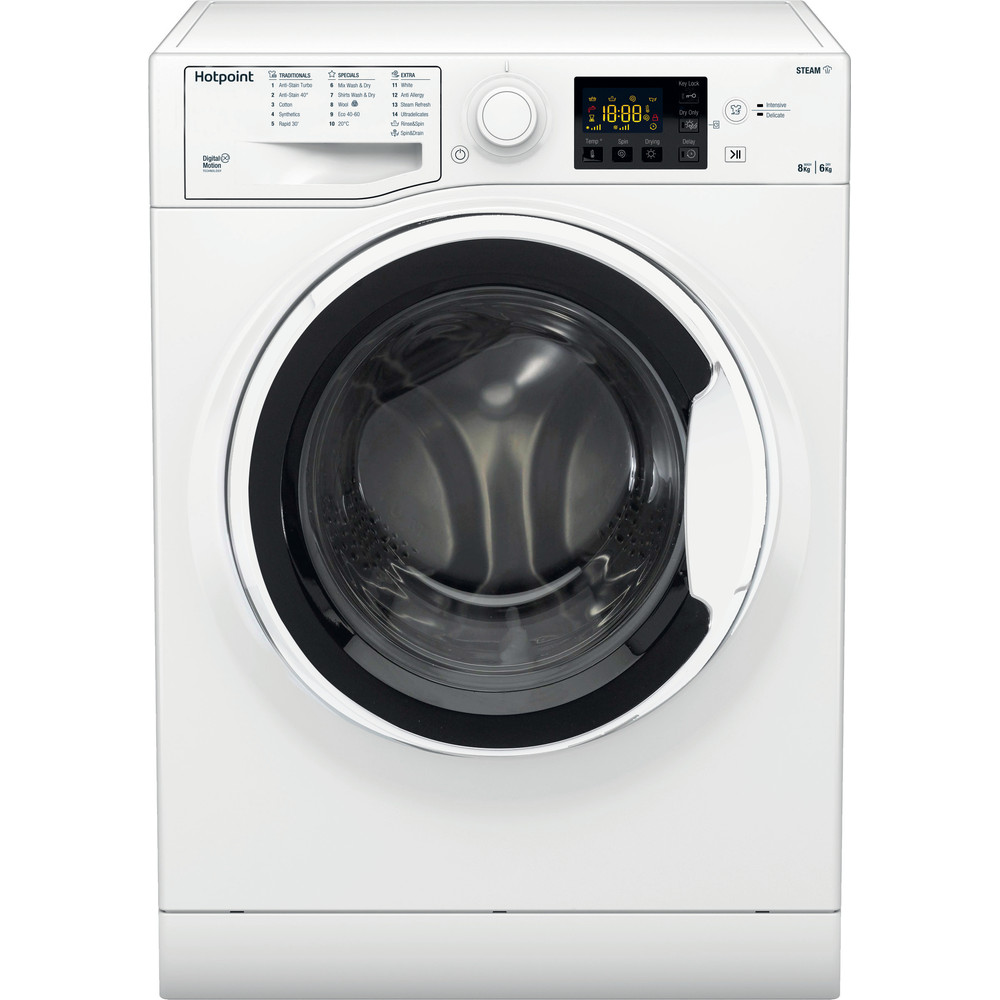 Hotpoint Washer dryer Free-standing RDG 8643 WW UK N White Front loader Frontal