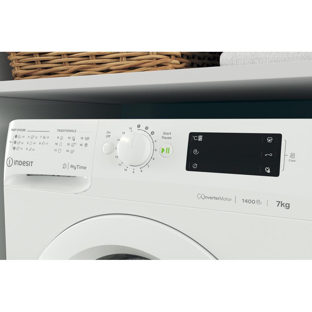 Indesit Пральна машина Соло OMTWE 71483 W EU Білий Front loader A+++ Lifestyle control panel