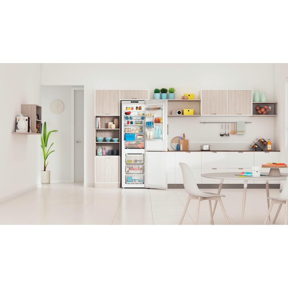 Indesit Kombinovaná chladnička s mrazničkou Voľne stojace INFC9 TI22W Biela 2 doors Lifestyle frontal open