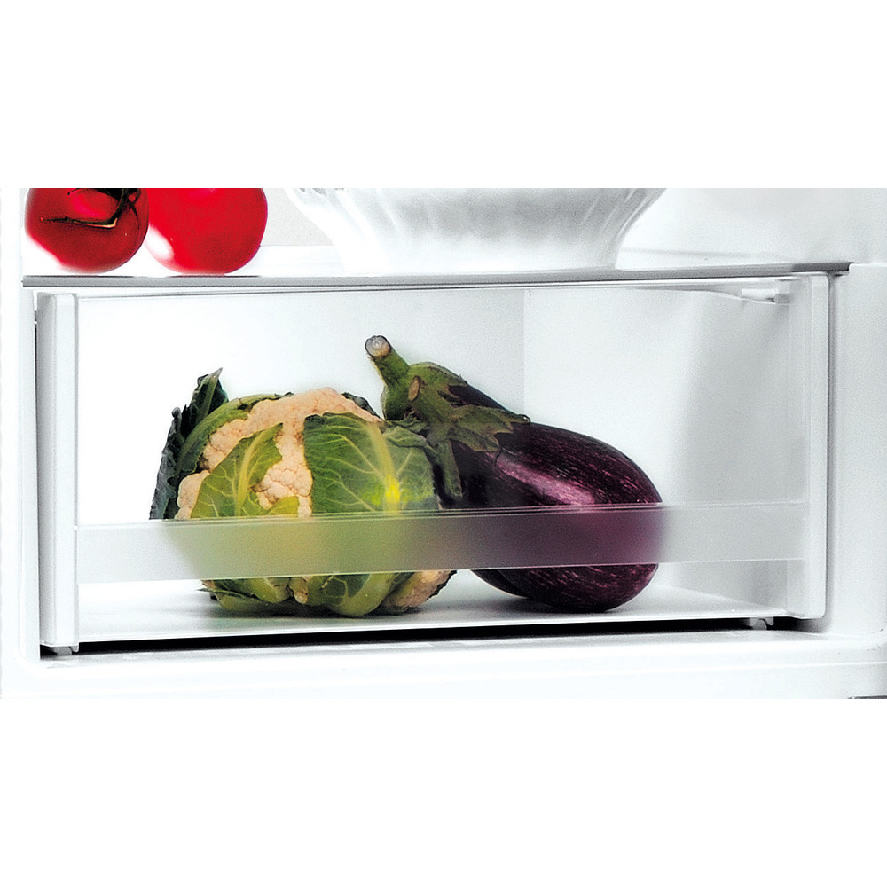 Indesit Fridge-Freezer Combination Free-standing LI8 S1E S UK Silver 2 doors Drawer