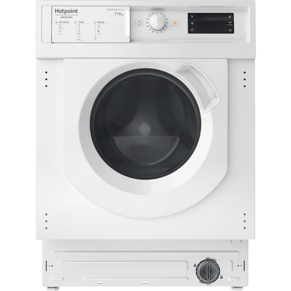 Hotpoint_Ariston Lavadora secadora Incorporado BI WDHG 751482 EU N Blanco Cargador frontal Frontal