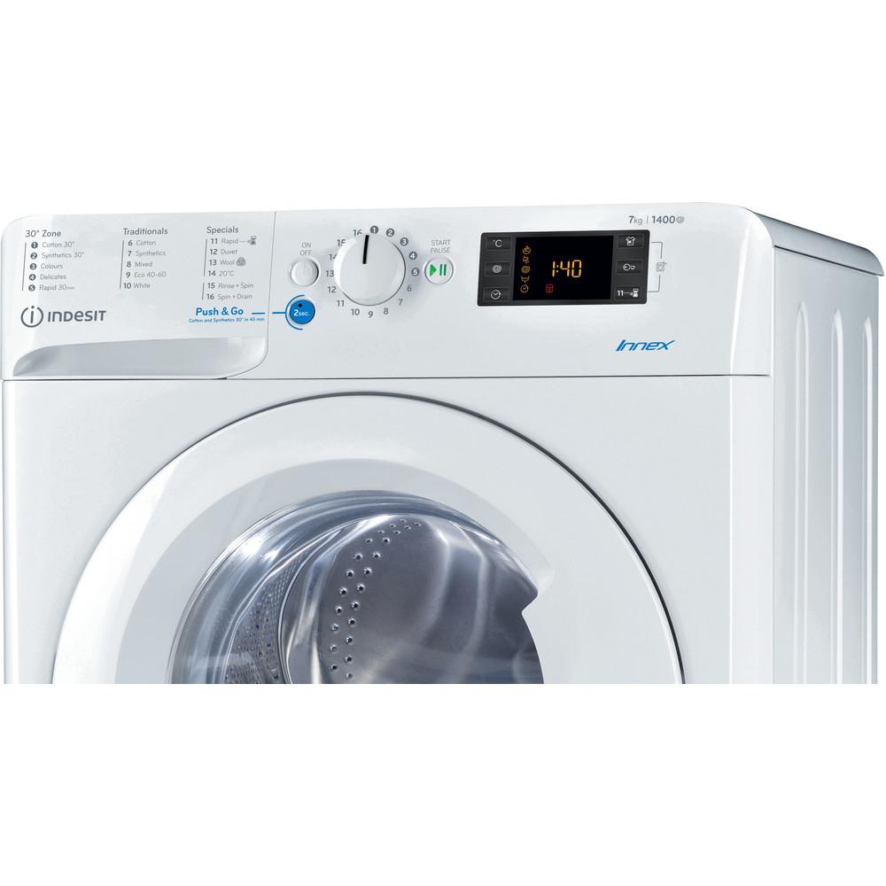 Indesit Washing machine Free-standing BWE 71452 W UK N White Front loader A+++ Control panel