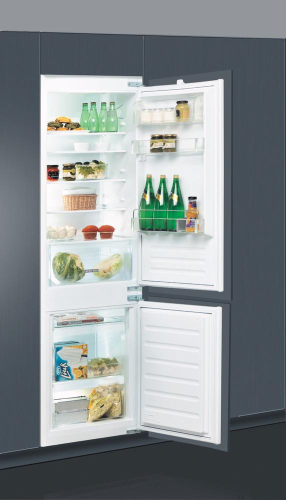 Whirlpool Jääkaappipakastin Kalusteisiin sijoitettava ART 66001 Valkoinen 2 doors Perspective open
