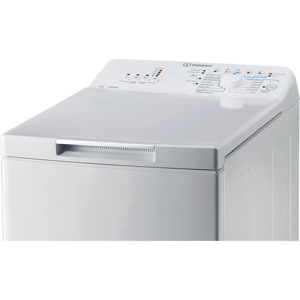 Indesit Lave-linge Pose-libre BTW L50300 FR/N Blanc Lave-linge top D Control panel