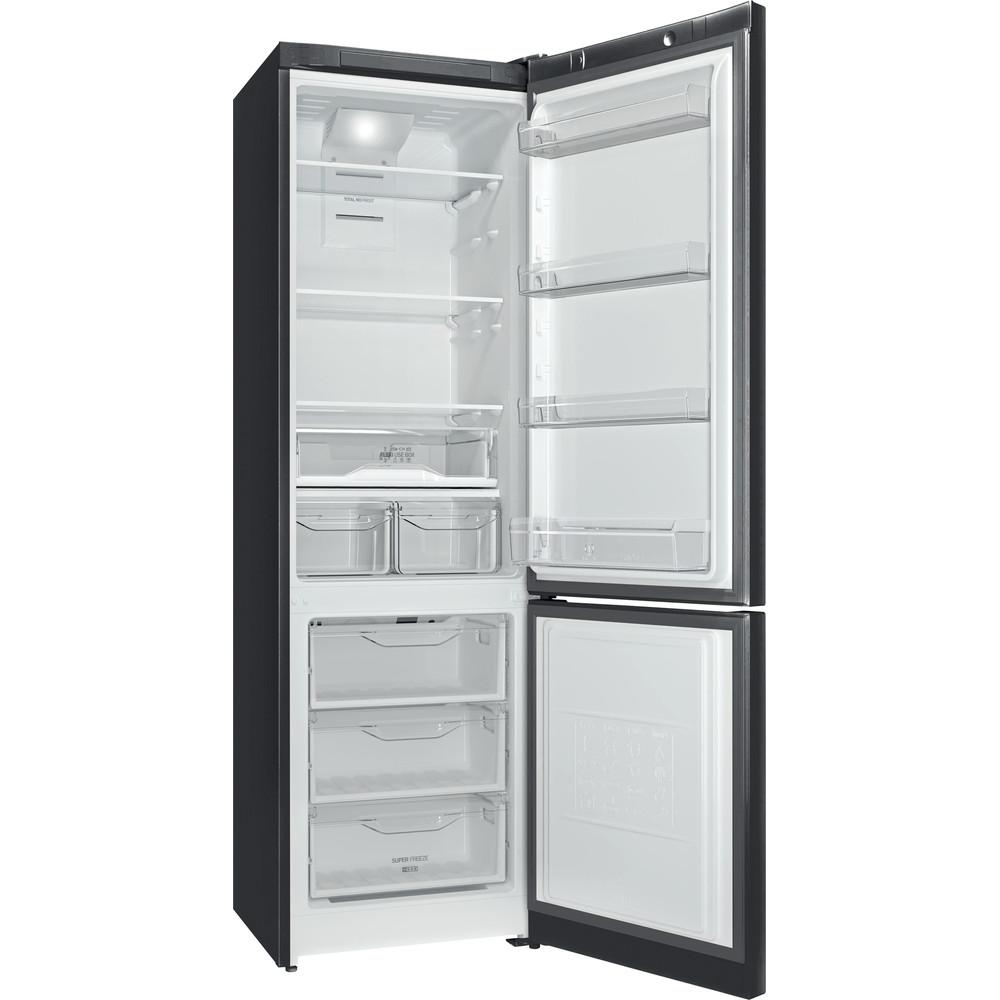 Indesit Холодильник с морозильной камерой Отдельностоящий ITF 020 B Черный 2 doors Perspective open