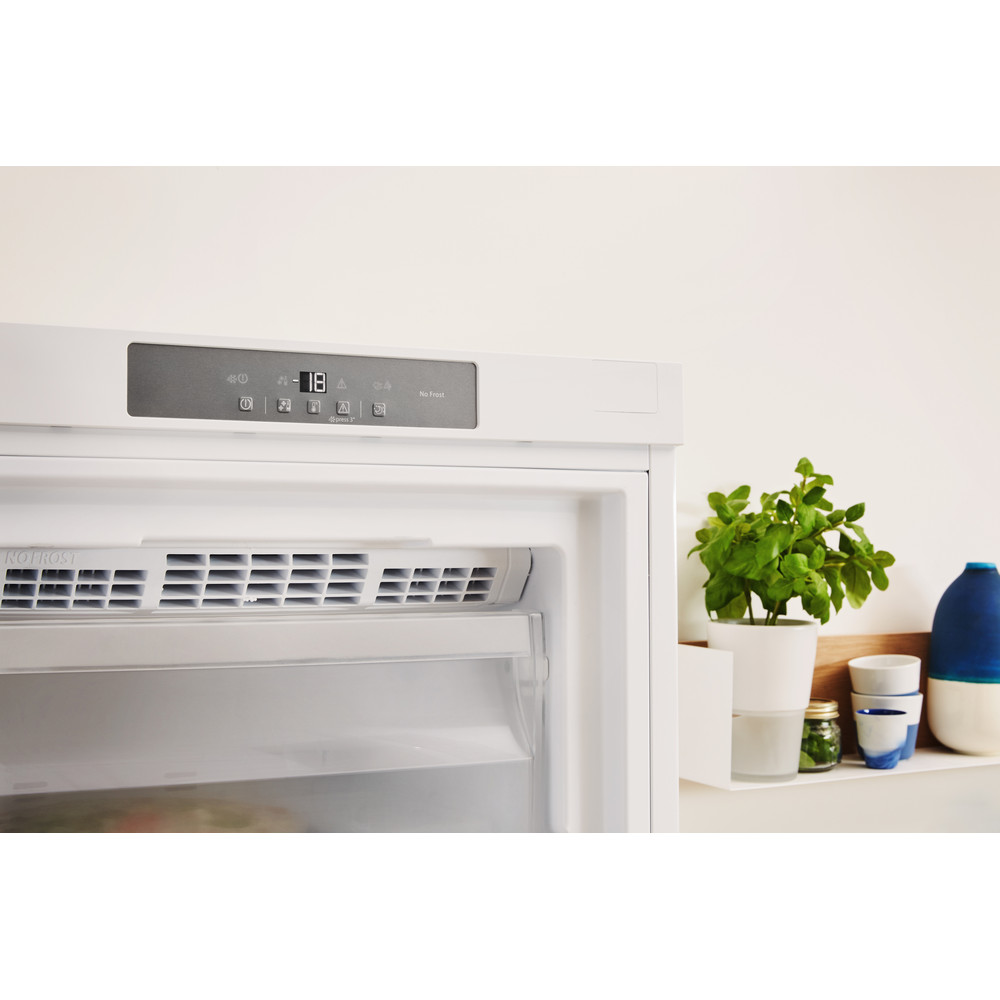Indesit Freezer Free-standing UI8 F1C W UK 1 Global white Lifestyle control panel