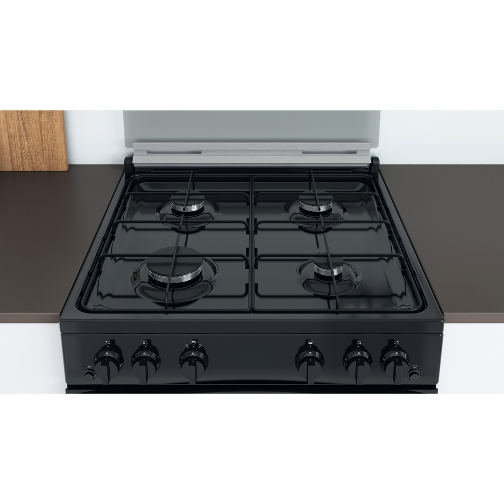 Indesit Double Cooker ID67G0MMB/UK Black A+ Lifestyle frontal top down