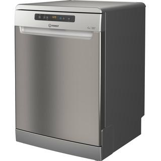 Πλυντήριο πιάτων Indesit: πλήρες μέγεθος, χρώμα inox