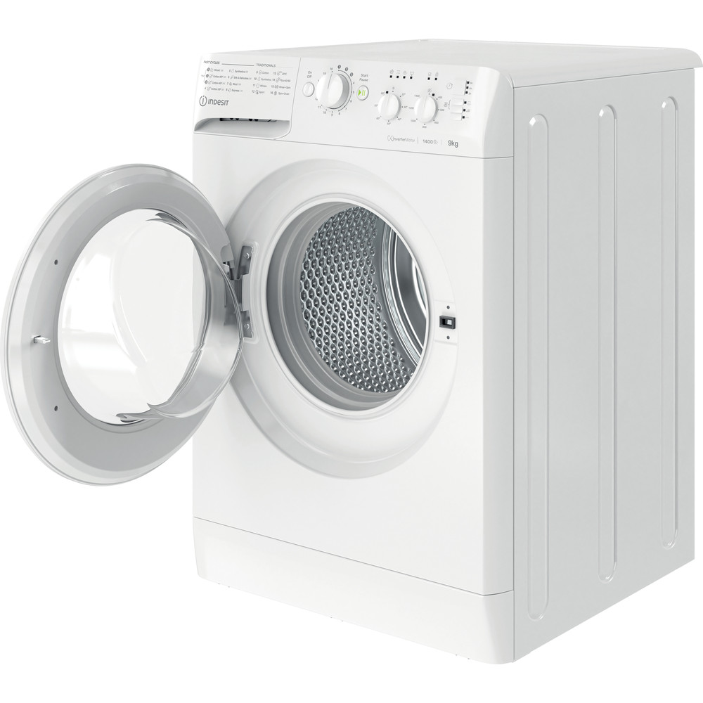 Indesit Washing machine Free-standing MTWC 91483 W UK White Front loader A++ Perspective open