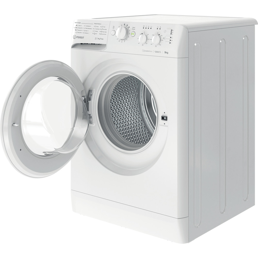 Indesit Washing machine Free-standing MTWC 91283 W UK White Front loader A+++ Perspective open