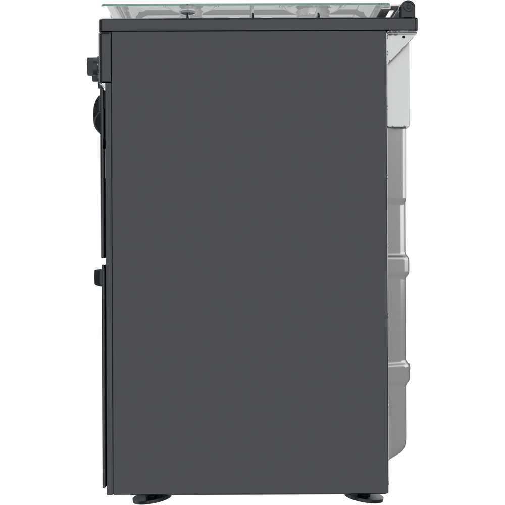Indesit Double Cooker ID67G0MMB/UK Black A+ Back / Lateral