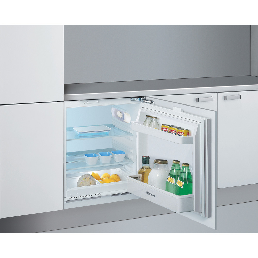 Indesit Refrigerator Built-in IL A1.UK 1 Steel Perspective open