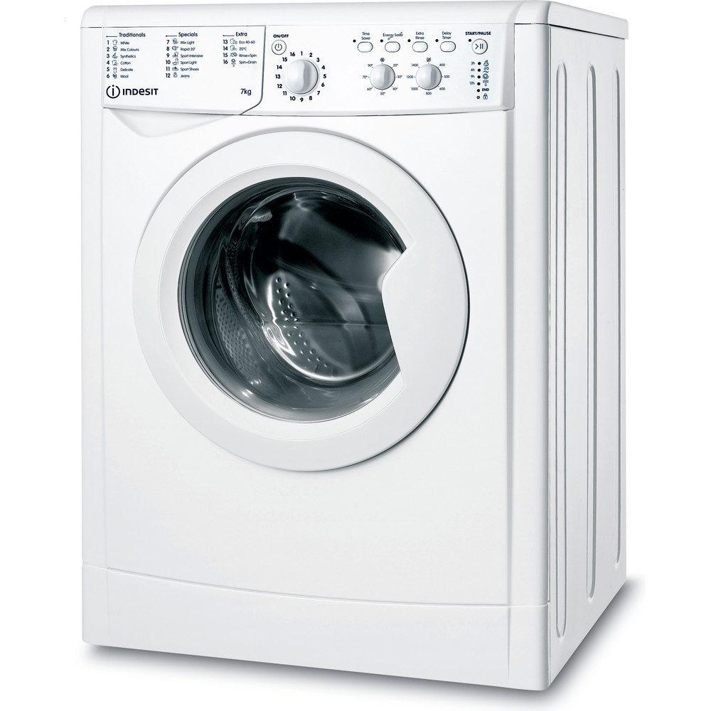 Indesit Washing machine Free-standing IWC 71452 W UK N White Front loader A+++ Perspective
