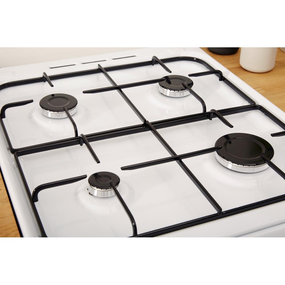 Indesit Double Cooker ID5G00KMW/UK White A+ Enamelled Sheetmetal Heating element