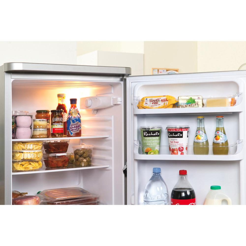 Indesit Комбиниран хладилник с камера Свободностоящи NCAA 55 NX Инокс 2 врати Lifestyle detail